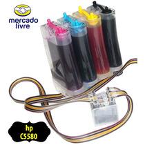 Bulk Ink Com Anti Refluxo E Tintas Para Impressora Hp C5580