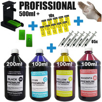 Kit Tinta Impressoras Hp 2050 2516 2546 Completo 500ml Snap