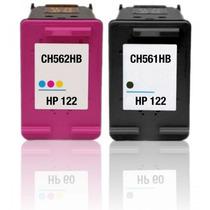 Kit De Cartucho Hp 122xl Preto + 122xl Color Compativel