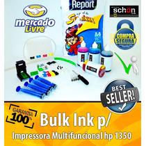 Bulk Ink Para Impressora Hp 1350 + 400ml De Tinta + Brinde!