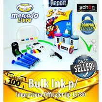 Bulk Ink Para Impressora Hp J5780 + 400ml De Tinta + Brinde!
