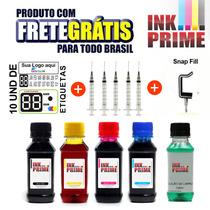 Kit Tinta Para Cartucho Hp/eps +snaip+solução +frete Gratis