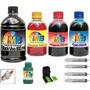 Kit Tinta Recarga Cartuchos Impressora Hp + Snap Fill 1350ml
