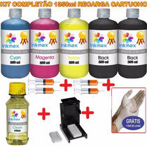 1350ml Kit Tinta Recarga Cartuchos Impressora Hp + Snap Fill