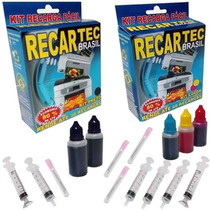 Kit Recarga Cartucho Hp 21 122 60 662 61 901 Preto E Color