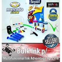 Bulk Ink Para Impressora Hp 2516 + 400ml De Tinta + Brinde!