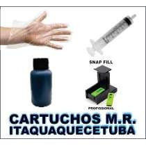 Kit Tinta Recarga Cartuchos Hp 500ml + Snap 122 60 662 60 Xl
