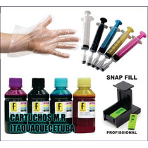 Kit Tinta P/ Recarga Cartucho Hp Original 122, 662, 60, Xl