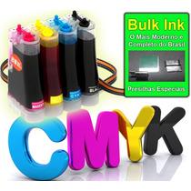 Novo Kit Bulk Ink Hp D1460 - Único Com Presilhas Especiais!