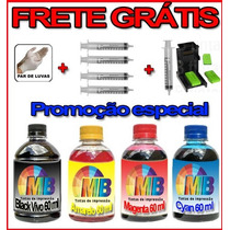 Kit Tinta Recarga Cartucho Lexmark + Snap 16 17 26 27 01 02