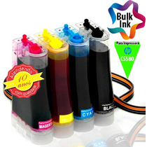 Bulk Ink Hp Para Deskjet C5580 + 120ml De Tinta Alemã