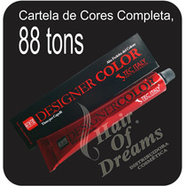Designer Color Tec Italy - Cartela Completa R$ 22,00 O Tubo