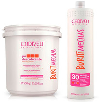 Cadiveu Pó Descolorante Buriti Mechas 500g + Emulsão 900ml
