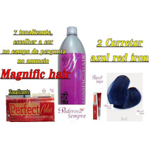 7 Tonalizantes Magnific Hair + Ox 30vl + 2 Corretor Red Iron