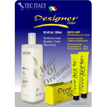 Tec-italy-ox-40-volumes+decoart-creme-descolorante