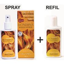 Biondina Clareador De Pelos E Cabelos Kit 1 Spray + 1 Refil