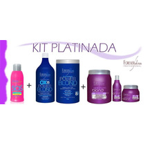 Kit Forever Liss Botox+shampoo+mascara+power Blond +sos