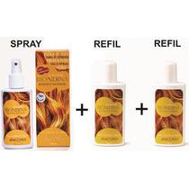 Biondina Clareador De Pelos E Cabelos Kit 1 Spray + 2 Refil