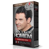 Kit Com 2 Shampo Tonalizante Biocolor Homem Castanho Médio