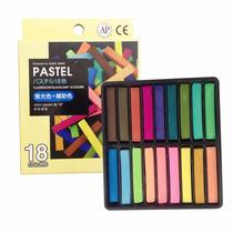 Giz Pastel Seco 18 Cores Fluorescentes Livro Tecido Cabelo