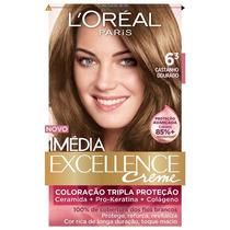 Coloração Loréal Imédia Excellence 6.3 Castanho Dourado