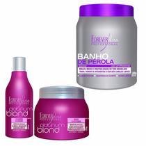 Banho Pérola 1kg + Kit Platinum Blond Forever Liss ! Sb