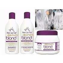 Kit Matizador Platinum Blond Profissional New Liss Hair