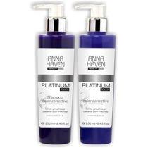 Shampoo E Máscara Anna Haven Platinum Touch (kit 250ml X 2)