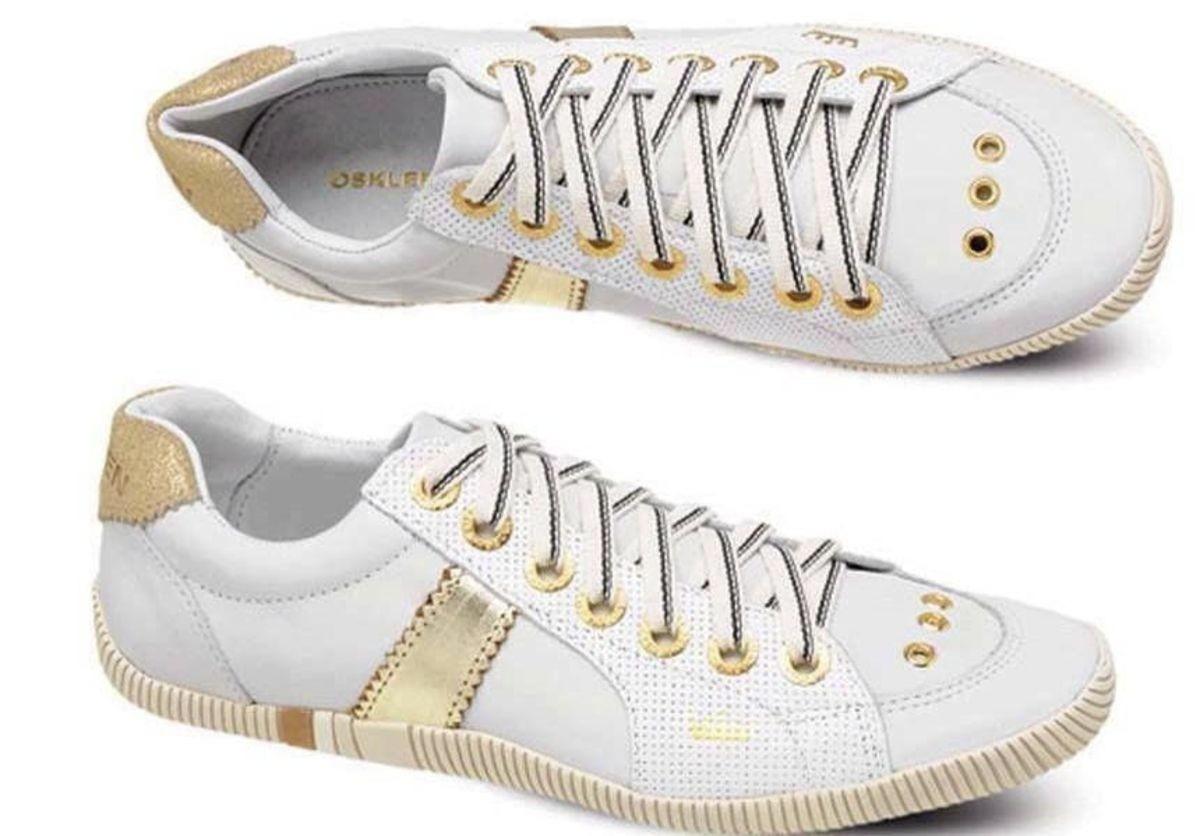 Osklen Dourado E Branco (feminino) - R$ 165,00 no MercadoLivre