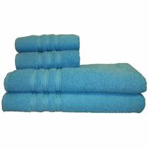 Jogo De Banho 4 Peças Monic - Azul Turquesa - Santa Mônica