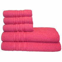 Jogo De Banho 5 Pcs Monic 100% Algodão Pink Santa Mônica