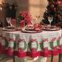 Toalha De Mesa Redonda Então É Natal 6p 178 Cm - Karsten