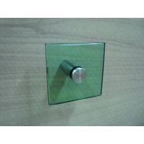 Porta Toalha De Rosto 10x10 De Vidro Verde Lapidado 10mm