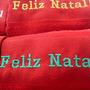 Toalha Bordada Feliz Natal, Lembrancinhas, Presente