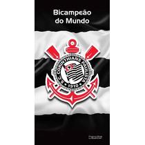 Toalha De Banho Corinthians Buettner Veludo Bi Mundial