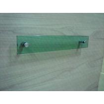 Porta Toalha De Banho 60x10 De Vidro Verde Lapidado 10mm