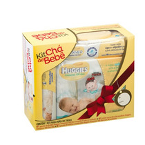 Kit Chá De Bebê Huggies Solução Lenço Creme Fralda P