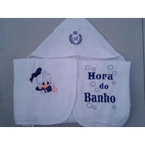 Toalhas De Banho Bebê - Bordados Personalizadas