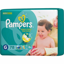 78 Fraldas Pampers Total Confort Mensal Tamanho G