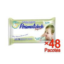 Toalhinha Umedecida Personalidade Com 50 Un. - 48 Pacotes