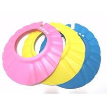 Chapéu De Banho Protetor Viseira Lava Cabeça Bebês Cor Rosa