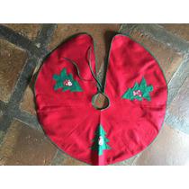 Toalha Base De Árvore - Natal - Vermelha - Excelente Estado