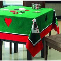 Toalha De Mesa Quadrada P/ Jogos Cartas Poker Truco Baralho