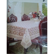 Toalha De Mesa Importada Renda Guipir Polyester 2,50x1.5mt