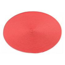 Jogo/lugar Americano Redondo 38cm Vermelho 0071