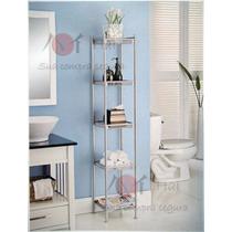 Estante De Banheiro Com 5 Prateleiras - 153cm X 29cm