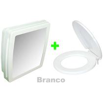 Armário P/ Banheiro C/ Espelho + Assento Envolv. Branco Herc