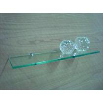 Prateleira De Vidro 60x20 Vidro Incolor Lapidado 10mm