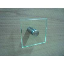 Porta Toalha De Rosto 10x10 De Vidro Incolor Lapidado 10mm