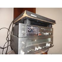 Som Antigo Polyvox Receiver Toca Disco Tape Deck